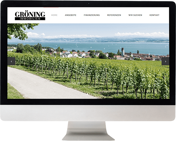 Screenshot Leistungsangebot Immobilien am Bodensee